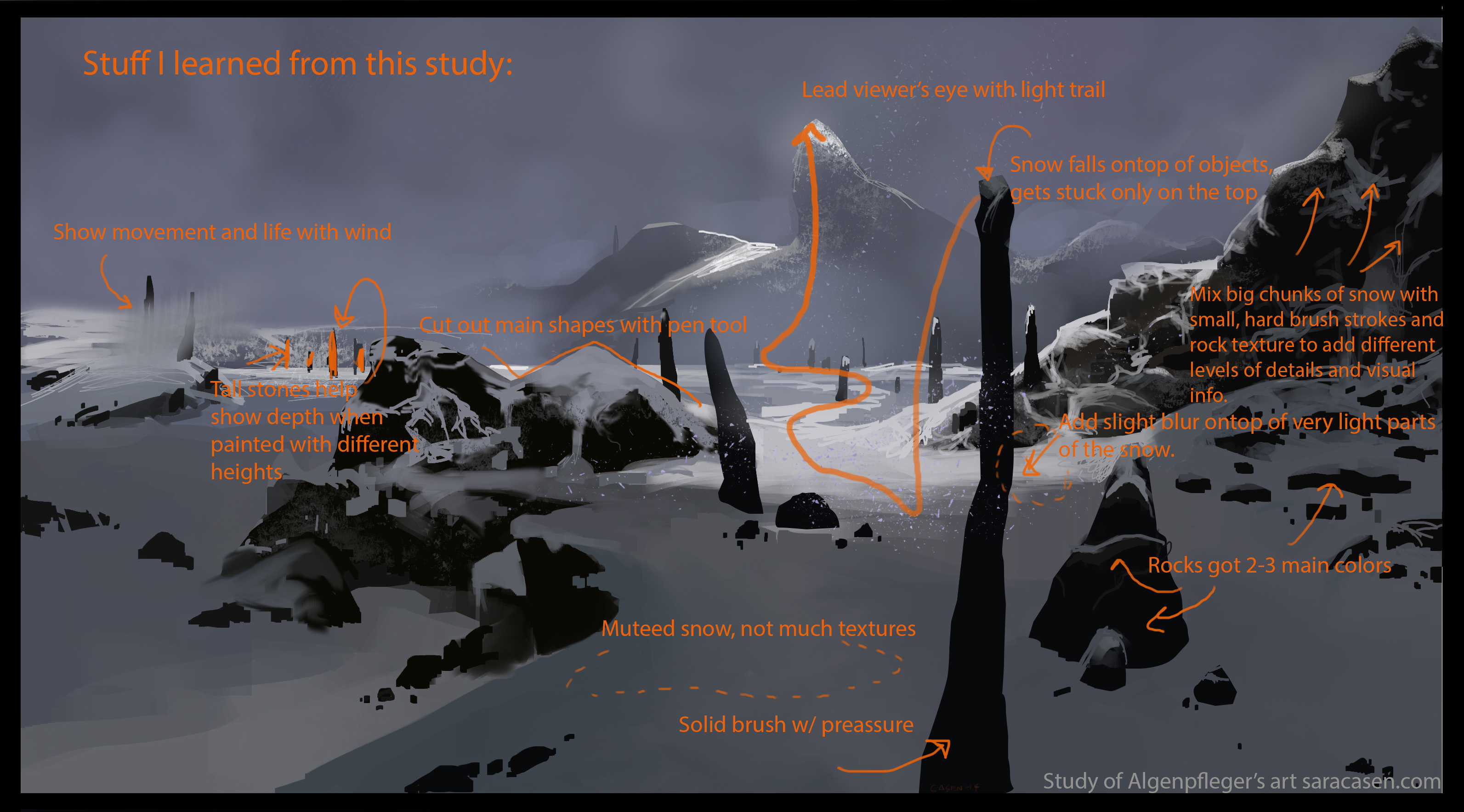 snowy_algen_study_learnings