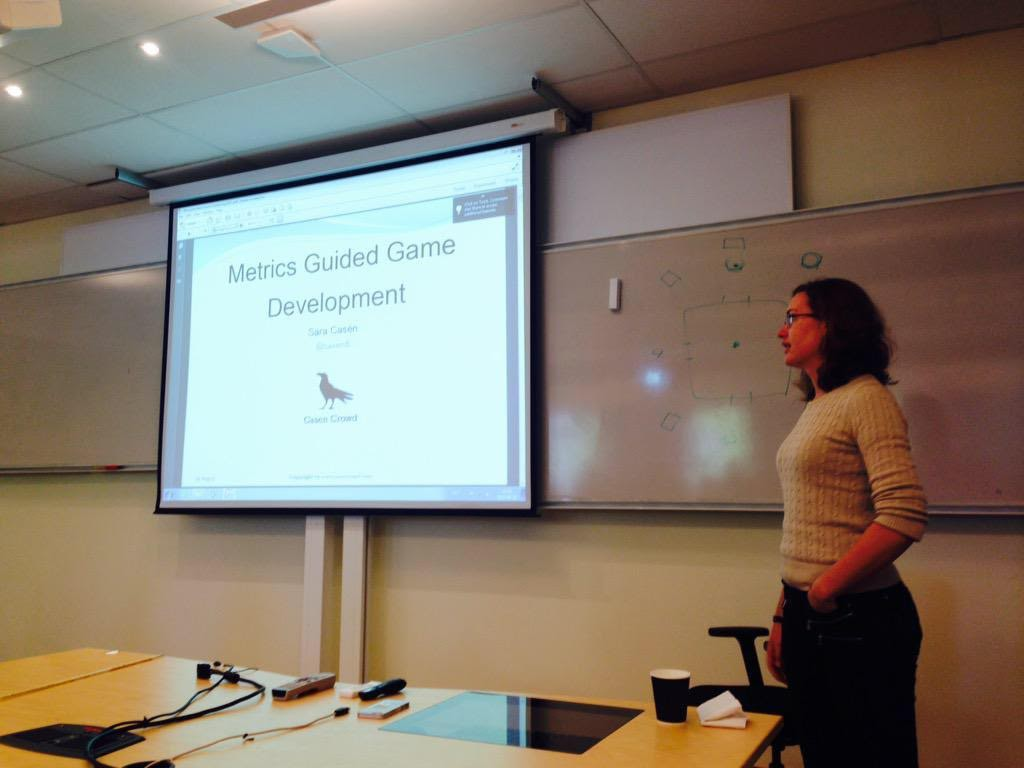 Giving a lecture at Microsoft Game Camp Sweden 2015!